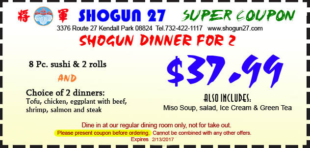 Samurai restaurant birthday coupon